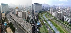 韓国ソウル清渓川